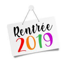 Rentrée 2019