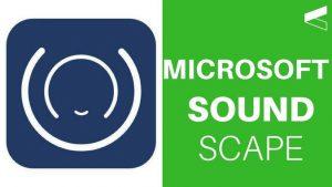 Application Soudscape de Microsoft