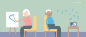 Patient écoute de la musique